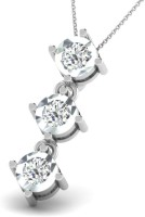 Sparkles Love Forever White Gold Plated 18K Diamond White Gold Pendant