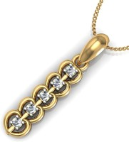 Arkina Diamonds Cinq Hearts 18kt Yellow Gold Pendant