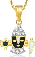 Meenaz Balaji God Idol Pendant With Chain For Men And Women Brass Cubic Zirconia, Crystal Alloy Pendant