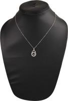 Anakar Stylish & Trendy Silver Crystal Pendant Set