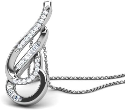 Caratlane Caratlane Lightdance Diamond Silver Pendant