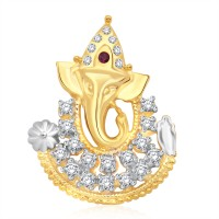 Classic Ganaraj CZ Gold And Rhodium Plated Pendant [CJ1022PG] Yellow Gold 18K Cubic Zirconia Alloy Pendant