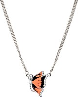 Crunchy Fashion Coral Butterfly Rhodium Alloy Pendant