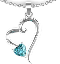 Shruti Rose Rhodium Cubic Zirconia Sterling Silver Pendant