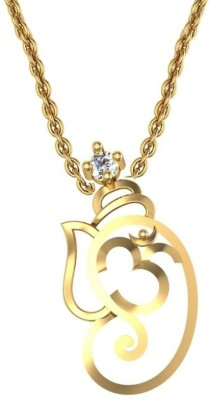 Avsar Avsar Diamond Yellow Gold Pendant (White)