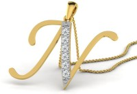 Full Cut Diamond Love Forever 18K Yellow Gold Plated 18K Diamond Gold Pendant - PELEBFM2XGCRSMUF