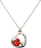 Crunchy Fashion Valentine Hearts Rhodium Plated Alloy Pendant