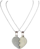 Men Style Top Selling Couple His And Her Broken Heart Shape Necklaces SPn08012 Zinc Pendant Set