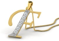 Full Cut Diamond Love Forever 18K Yellow Gold Plated 18K Diamond Gold Pendant - PELEBFM2Q43GMNWQ