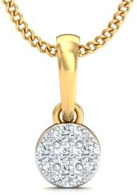 Stylori The Snowflaked Pendant 18kt Diamond Yellow Gold Pendant