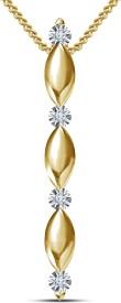 Kirati 14K Yellow Gold NAK Cubic Zirconia Sterling Silver Pendant