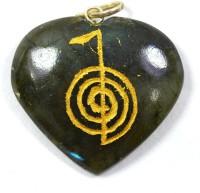 Reiki Crystal Products Labradolite Crystal Heart Reiki Crystal Stone Pendant