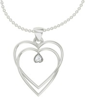 TBZTheOriginal Daily Wear Pendant With0.01 Diamonds 18kt Diamond White Gold Pendant