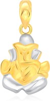 Classic Lord Ganesh Gold And Rhodium Plated Pendant [CJ1002PG] Yellow Gold 18K Cubic Zirconia Alloy Pendant