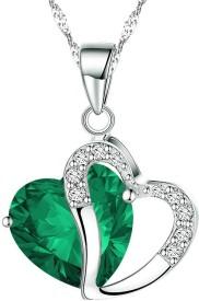 Shining Diva Heart Shape Sterling Silver Crystal Crystal