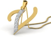 Full Cut Diamond Love Forever 18K Yellow Gold Plated 18K Diamond Gold Pendant