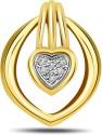Surat Diamond Brilliant Yellow Gold 18K Yellow Gold Plated Pendant