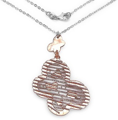 Johareez 5.70 Grams Two Tone Plated .925 Sterling Silver Butterfly Shape Pendant Rhodium Plated Sterling Silver Pendant available at Flipkart for Rs.2469