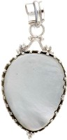 Exotic India Mother Of Pearl Sterling Silver Pendant