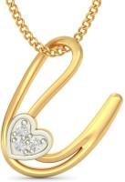 BlueStone The Anchored Love 18kt Diamond Yellow Gold Pendant