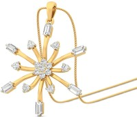 WearYourShine By PCJ The Snowflake Yellow Gold Plated 18K Diamond Gold Pendant