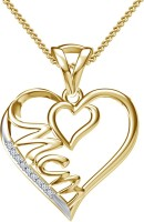 Kirati Love Forever Yellow Gold Plated Cubic Zirconia Silver Pendant