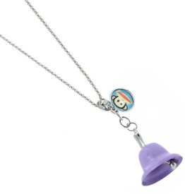 sanaa creations TRENDY PURPLE COLOR BELL SHAPE WITH ANIMAL TAG KEYCHAIN/PENDANT Alloy