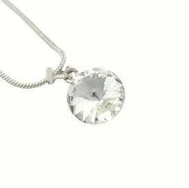 Ishaani Love Forever 18K White Gold Crystal Crystal, Brass Pendant Set