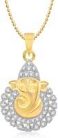 Meenaz Alloy Ganpati Gold & Rhodium Alloy Pendant
