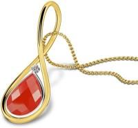 Caratlane Raine 18kt Diamond, Quartz Yellow Gold Pendant