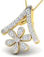 Sparkles Love Forever Yellow Gold Plated 18K Diamond Yellow Gold Pendant