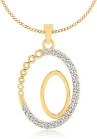 IskiUski Blazing Yellow Gold Diamond Sterling Silver Pendant