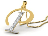 Full Cut Diamond Love Forever 18K Yellow Gold Plated 18K Diamond Gold Pendant - PELEBFM2HJG3EVXT