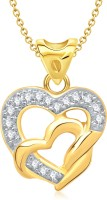 VK Jewels Season Of Love Heart Shape 18K Yellow Gold Plated Cubic Zirconia Alloy Pendant