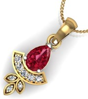 Arkina Diamonds Red Devil 18kt Yellow Gold Pendant