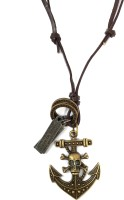 Ammvi Creations Pirate Anchor Adjustable For Men Leather Pendant