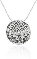 Mahi Royal Rhodium Plated Crystal Brass, Alloy Pendant