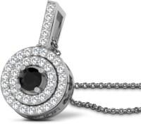 His & Her Beautiful Sterling Silver Diamond Sterling Silver Pendant - PELEDJH42S7TXV8X