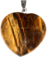 SS Murti Handmade Traditional Designer Tiger Eye Stones Love Heart Shape Pendant 2 Cm Stone