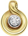 Surat Diamond Sparkling Clean Yellow Gold 18K Yellow Gold Plated Pendant