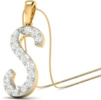 WearYourShine By PCJ The Brilliant S 18K Diamond Gold Pendant
