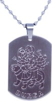Suvarna Metal Durga Maa Style Sterling Silver Stainless Steel Pendant