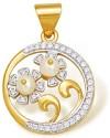 Ishtaa 18k BIS Hallmarked Yellow Gold Pendant - PELDV5K8YETCUZSY