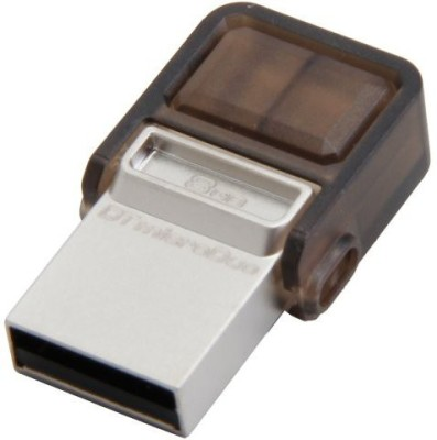 Kingston DataTraveler Micro Duo OTG 8 GB  Pen Drive (Grey)