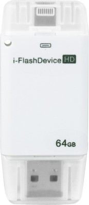 Image i-Flash Device Dual Port 64 GB  Pen Drive (White)