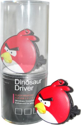 Dinosaur Drivers Red Angry Bird 16 GB  Pen Drive (Multicolor)