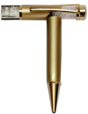 Gift Studio Gold Crsytal 8 GB  Pen Drive (Gold)