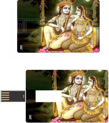 Print Shapes Krishna & Radha Credit Card Shape