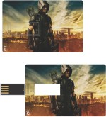 Print Shapes Green arrow Credit Card Shape