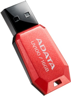 Adata UV100 Slim 16 GB Pen Drive (Red)
